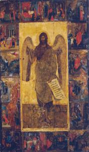 Иоанн Предтеча Ангел пустыни с житием, XIV в.